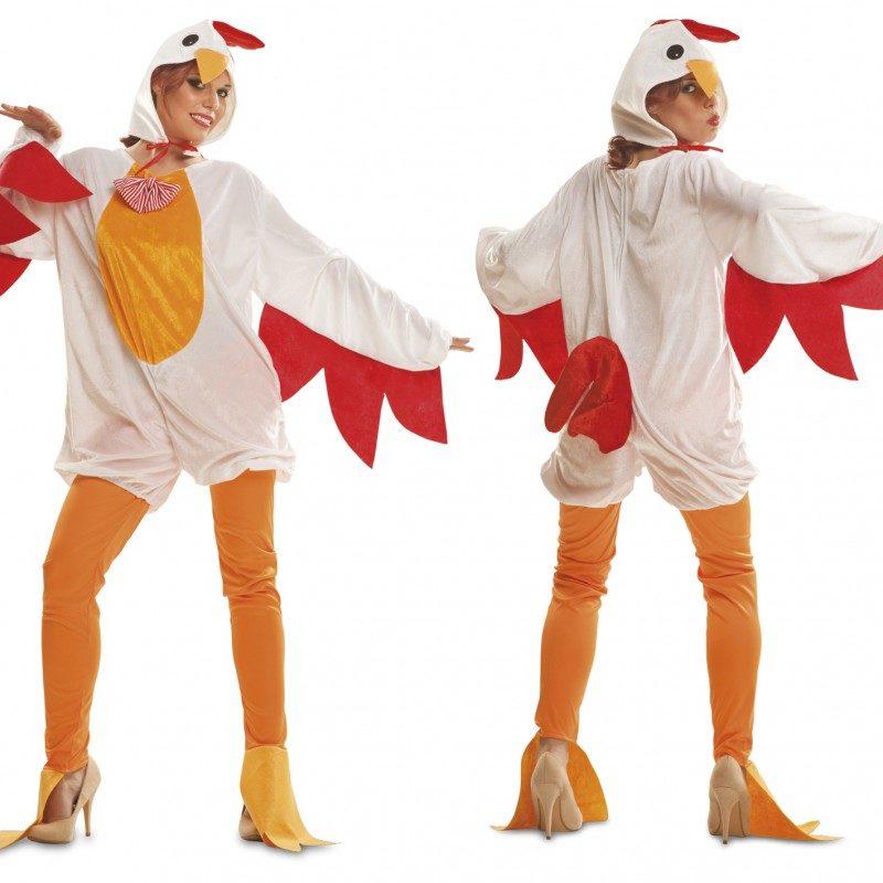 disfraz gallina adulto 800x800 - DISFRAZ DE GALLINA BLANCA MUJER
