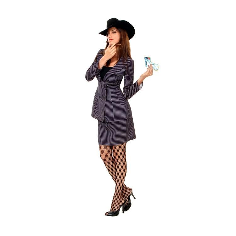 disfraz ganster mujer 1 - DISFRAZ DE GANSTER MAFIOSA MUJER