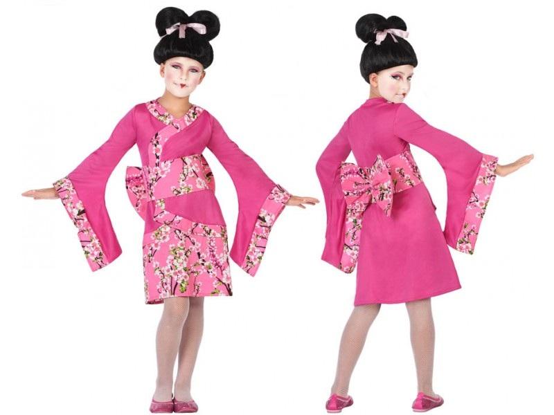 disfraz geisha rosa niña - DISFRAZ DE GEISHA ROSA NIÑA