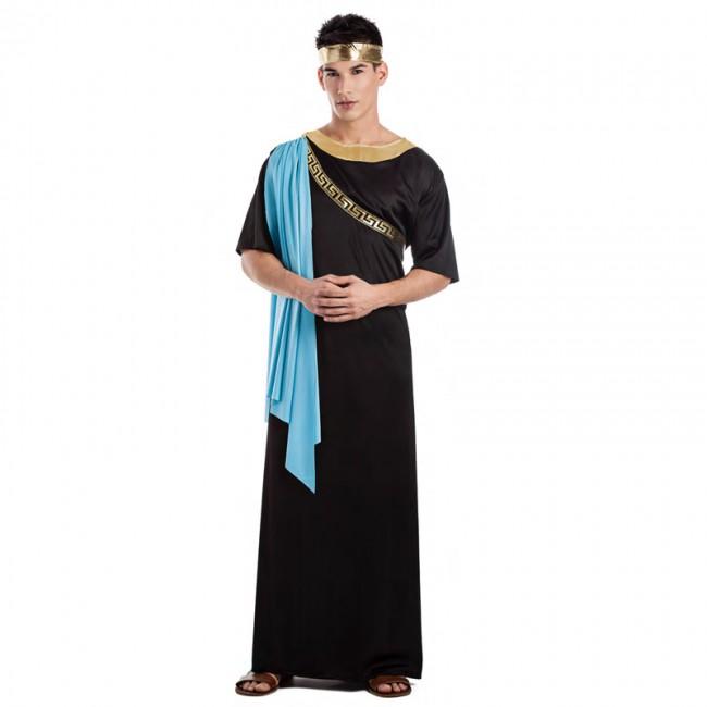 disfraz griego negro para hombre - DISFRAZ DE GRIEGO NEGRO HOMBRE