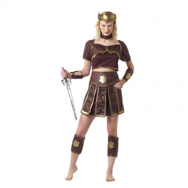 disfraz guerrera romana mujer 1 - DISFRAZ DE GUERRERA ROMANA MUJER
