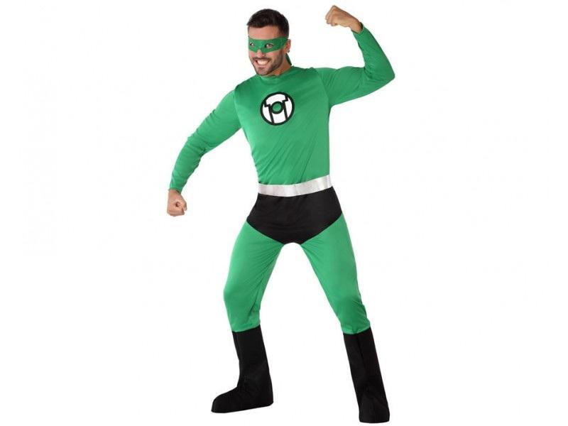 disfraz héroe comic verde hombre - DISFRAZ DE HÉROE CÓMIC VERDE HOMBRE