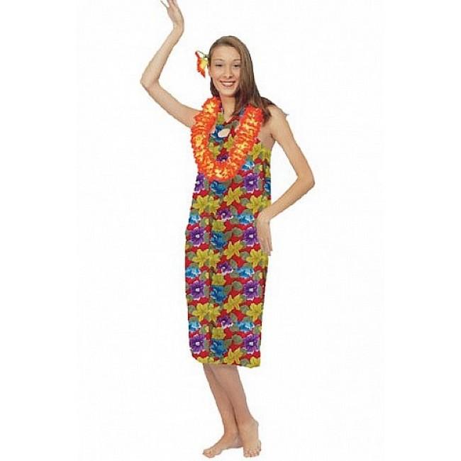 disfraz hawaiana mujer 1 - DISFRAZ DE HAWAIANA COLORES MUJER