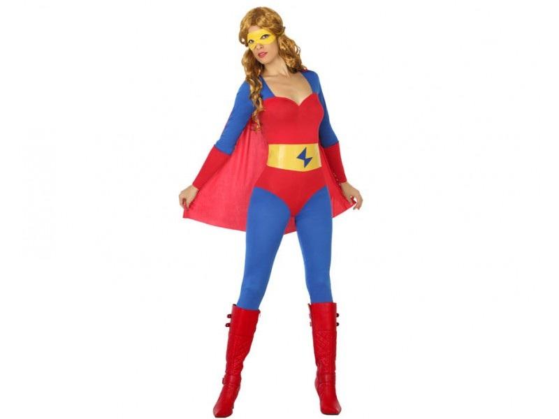 disfraz heroe comic capa mujer - DISFRAZ DE SUPERHEROÍNA MUJER
