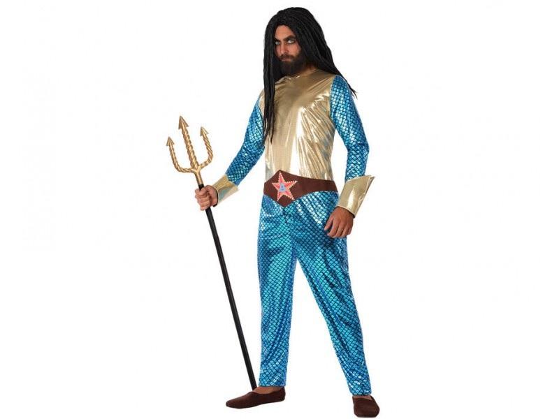 disfraz heroe comic metalizado hombre - DISFRAZ DE AQUAMAN HOMBRE