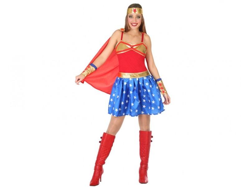 disfraz heroe comic mujer 1 - DISFRAZ DE HEROINA DEL COMIC MUJER