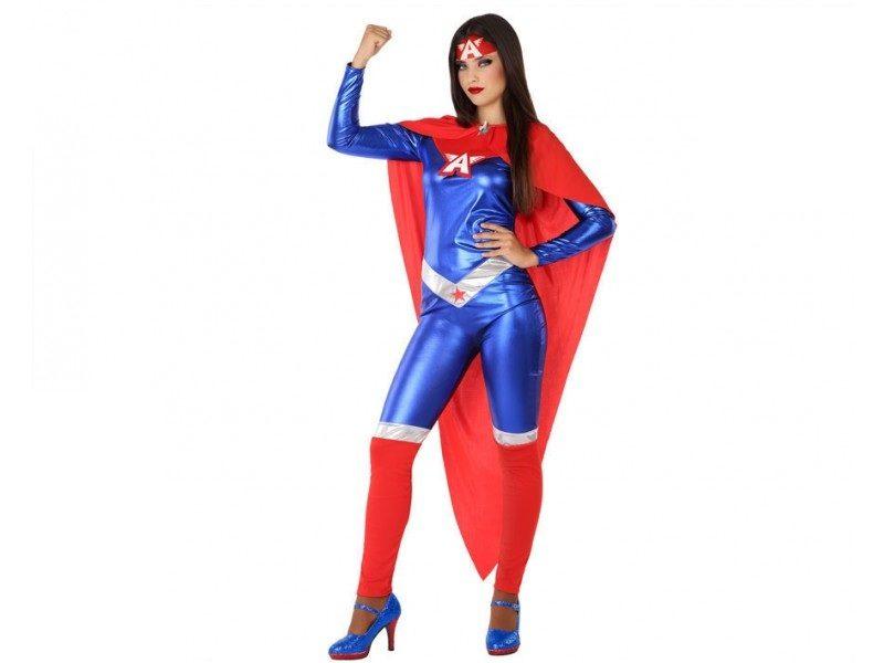 disfraz heroe comic mujer 2 800x600 - DISFRAZ CAPITÁN AMÉRICA MUJER
