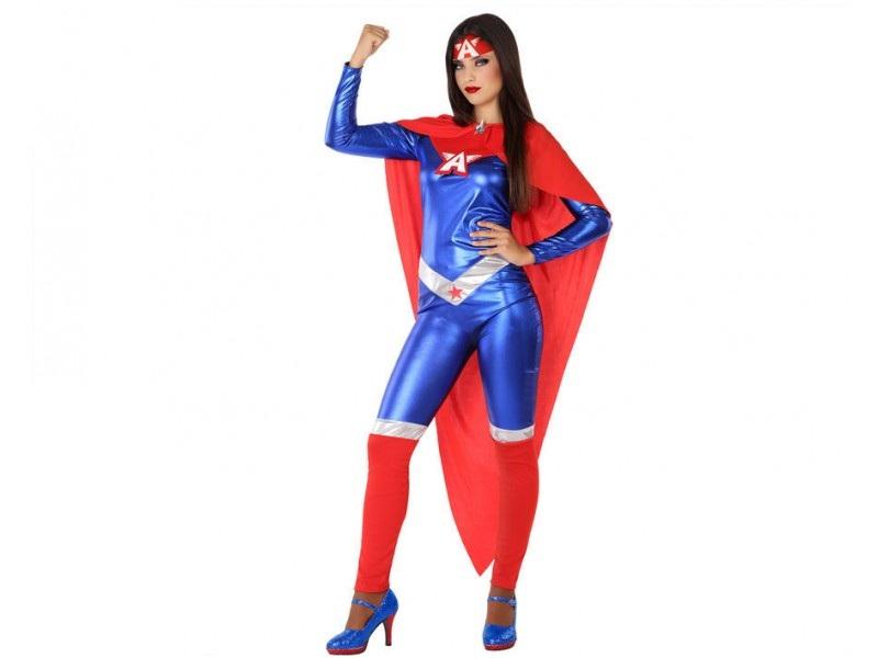 disfraz heroe comic mujer 2 - DISFRAZ CAPITÁN AMÉRICA MUJER