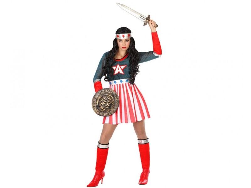 disfraz heroe comic mujer - DISFRAZ DE SUPERHEROINA COMIC MUJER