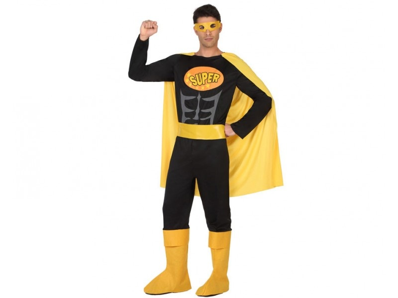 disfraz heroe comic negro hombre - DISFRAZ HÉROE CÓMIC NEGRO HOMBRE