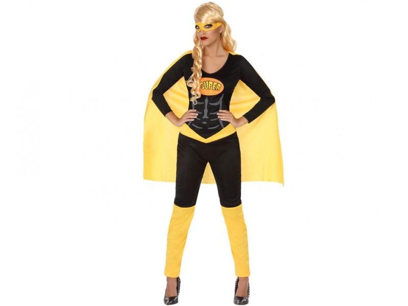 disfraz heroe comic negro mujer. - DISFRAZ DE HEROÍNA CÓMIC MUJER