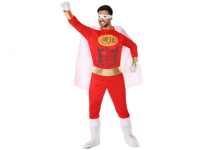 disfraz heroe comic rojo hombre - DISFRAZ DE HÉROE CÓMIC ROJO HOMBRE