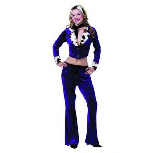 disfraz hipie azul mujer - DISFRAZ DE HIPPIE AZUL MUJER