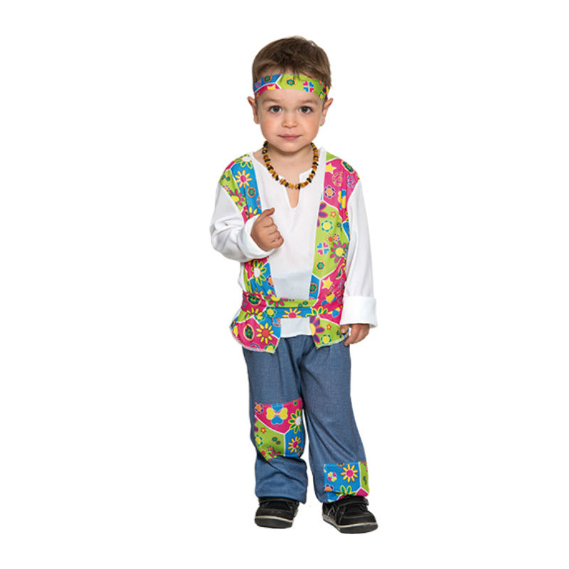 disfraz hippie azul infantil - DISFRAZ DE HIPPIE AZUL INFANTIL