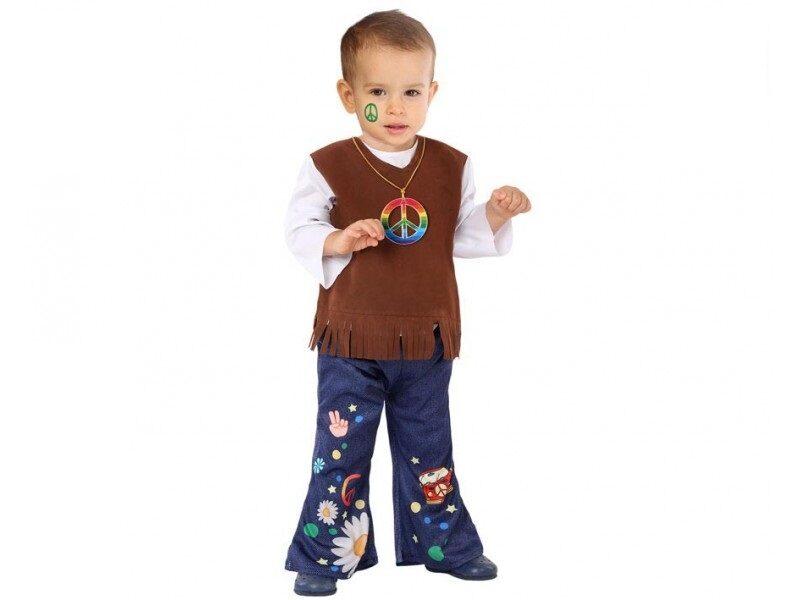 disfraz hippie bebé 800x600 - DISFRAZ DE HIPPIE BEBÉ MARRÓN NIÑO