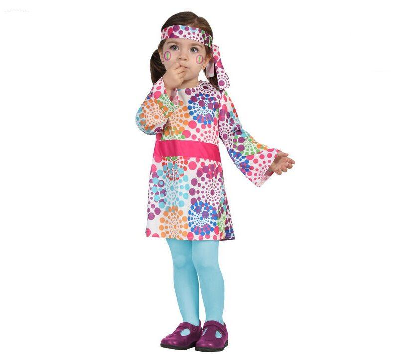 disfraz hippie bebé niña 1 800x709 - DISFRAZ DE HIPPIE BEBÉ VESTIDO NIÑA