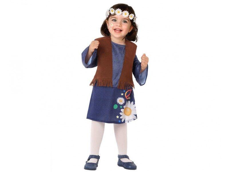 disfraz hippie bebé niña 800x600 - DISFRAZ DE HIPPIE NIÑA FALDA BEBÉ