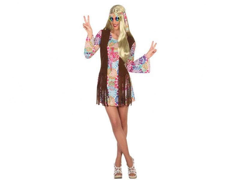 disfraz hippie falda mujer - DISFRAZ DE HIPPIE FALDA MUJER
