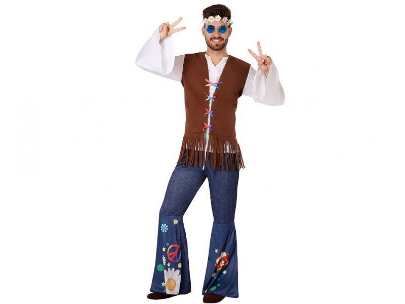 disfraz hippie hombre 1 800x600 - DISFRAZ DE HIPPIE HOMBRE
