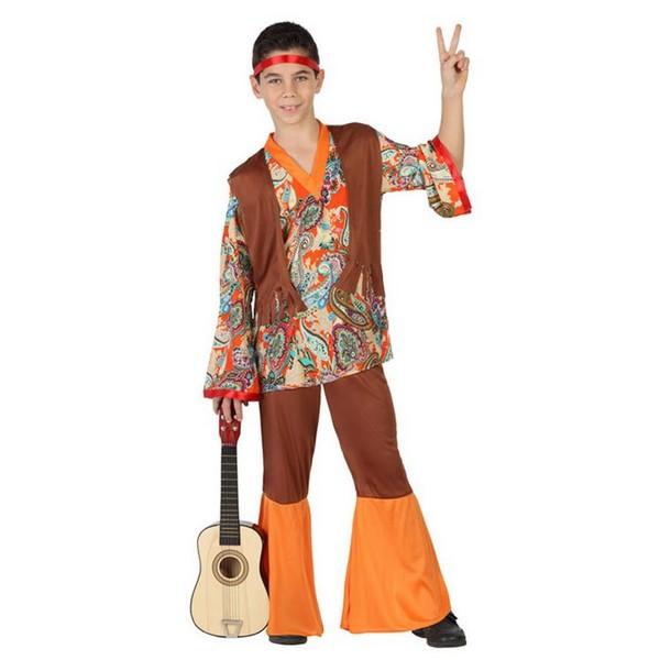 disfraz hippie infantil. - DISFRAZ DE HIPPIE NIÑO NARANJA