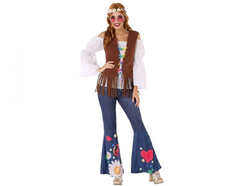 disfraz hippie mujer 1 - DISFRAZ DE HIPPIE MUJER