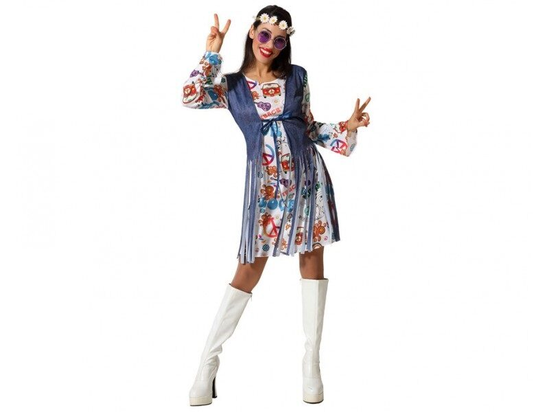 disfraz hippie mujer 2 800x600 - DISFRACES MUJER