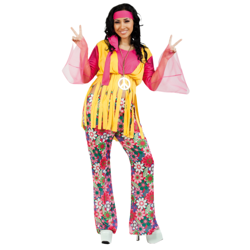 disfraz hippie mujer - DISFRAZ DE HIPPIE MUJER