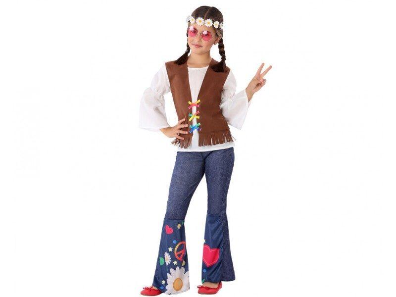 disfraz hippie niña 1 800x600 - DISFRAZ DE HIPPIE NIÑA