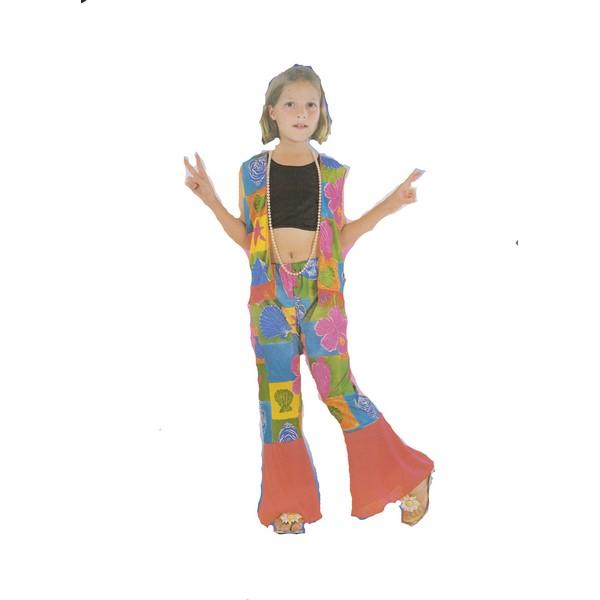 disfraz hippie niña - DISFRAZ DE HIPPIE FLOWER POWER NIÑA