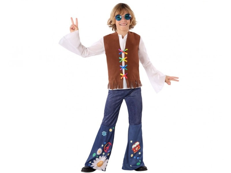 disfraz hippie niño 1 - DISFRAZ DE HIPPIE NIÑO