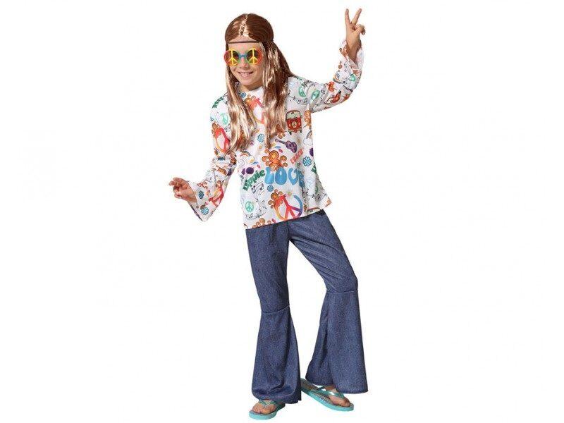 disfraz hippie niño 2 800x600 - DISFRAZ DE HIPPIE NIÑO