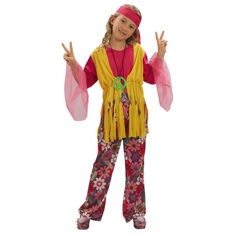 disfraz hippie top niña - DISFRAZ DE HIPPIE NIÑA