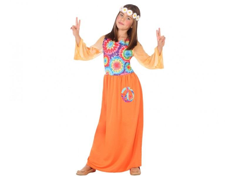 disfraz hippie vestido niña - DISFRAZ DE HIPPIE VESTIDO NIÑA