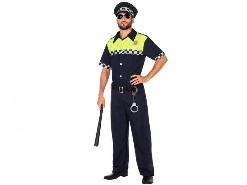 disfraz hombre policia - DISFRAZ  DE  POLICIA  LOCAL  PARA  HOMBRE