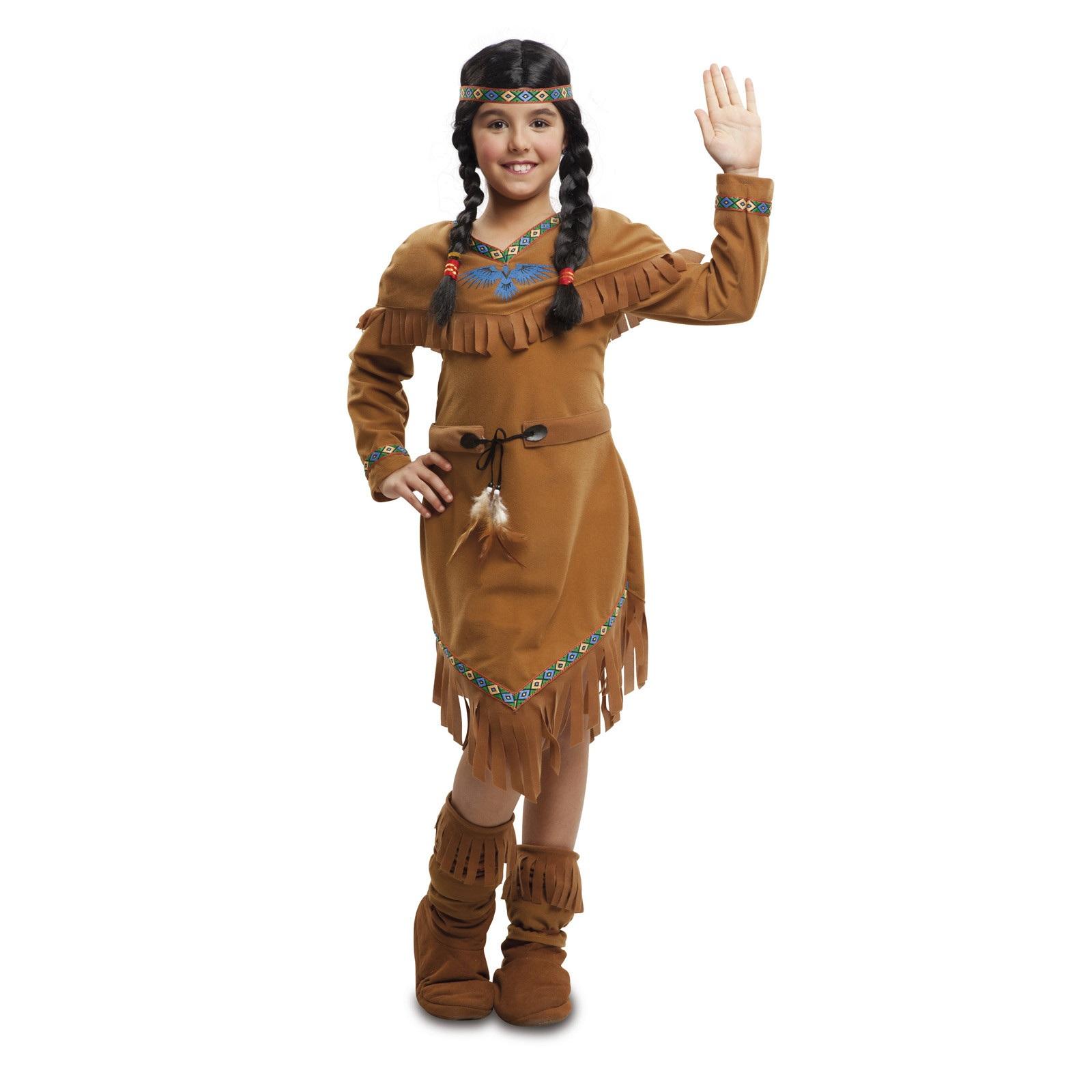 disfraz india marrón niña 203389mom - DISFRAZ DE INDIA MARRON NIÑA