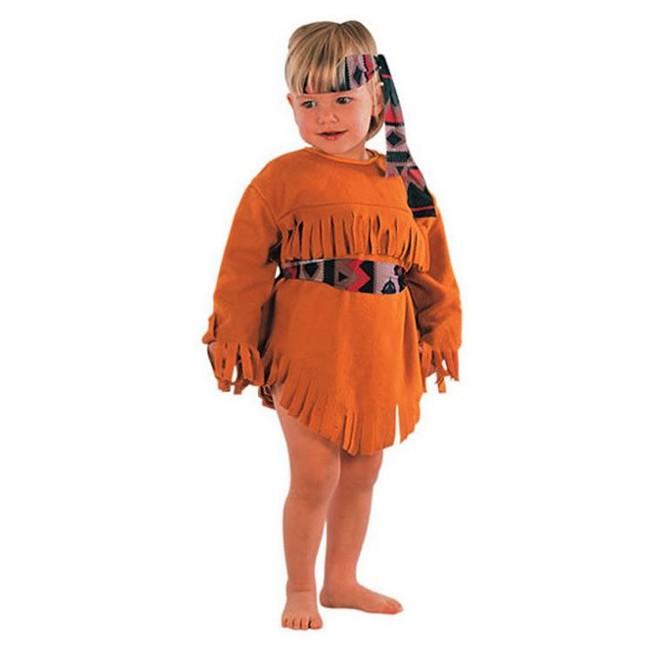 disfraz india naranja niña 1 - DISFRAZ DE INDIA NARANJA NIÑA