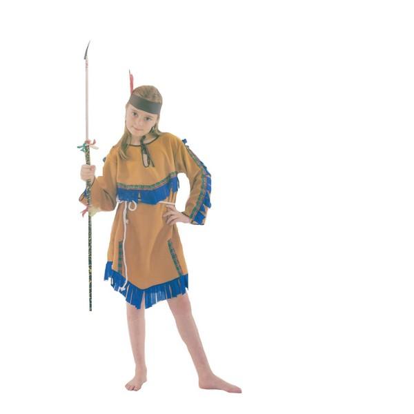 disfraz india naranja niña - DISFRAZ DE INDIA NARANJA NIÑA