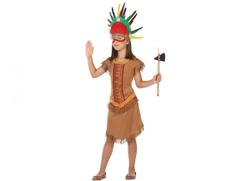 disfraz india niña 1 - DISFRAZ DE INDIA NIÑA