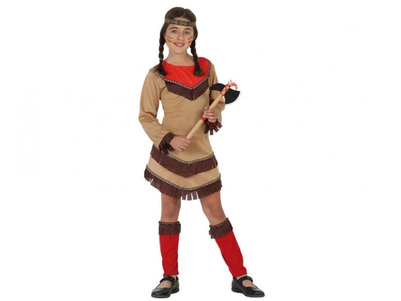disfraz india rojo niña - DISFRAZ INDIA ROJO NIÑA