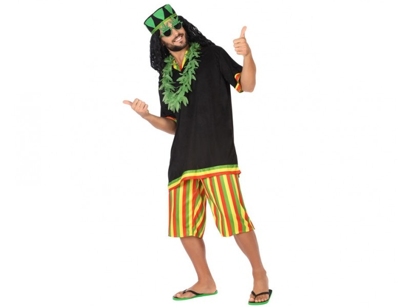 disfraz jamaicano hombre - DISFRAZ DE JAMAICANO HOMBRE