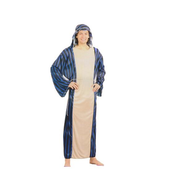 disfraz jeque árabe hombre - DISFRAZ DE JEQUE ARABE AZUL-NEGRO HOMBRE