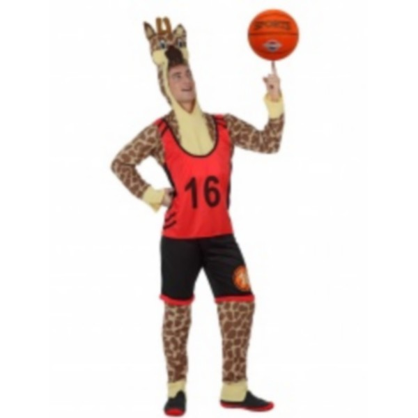 disfraz jirafa baloncesto adulto - DISFRAZ DE JIRAFA  BALONCESTO