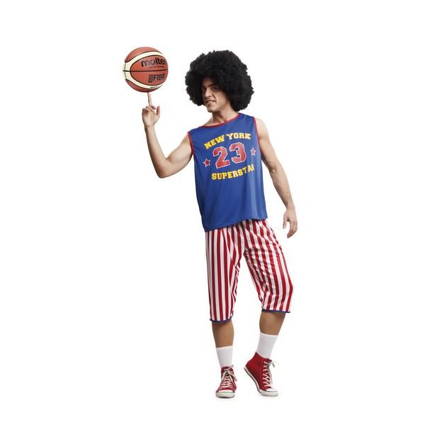 disfraz jugador de basquet nba hombre - DISFRAZ DE BASQUET GLOBETROTTER HOMBRE