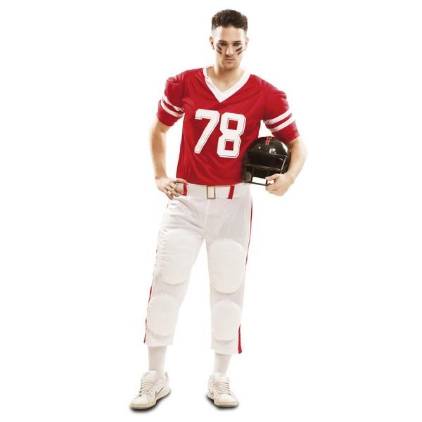 disfraz jugador rugby rojo hombre - DISFRAZ DE RUGBY ROJO HOMBRE