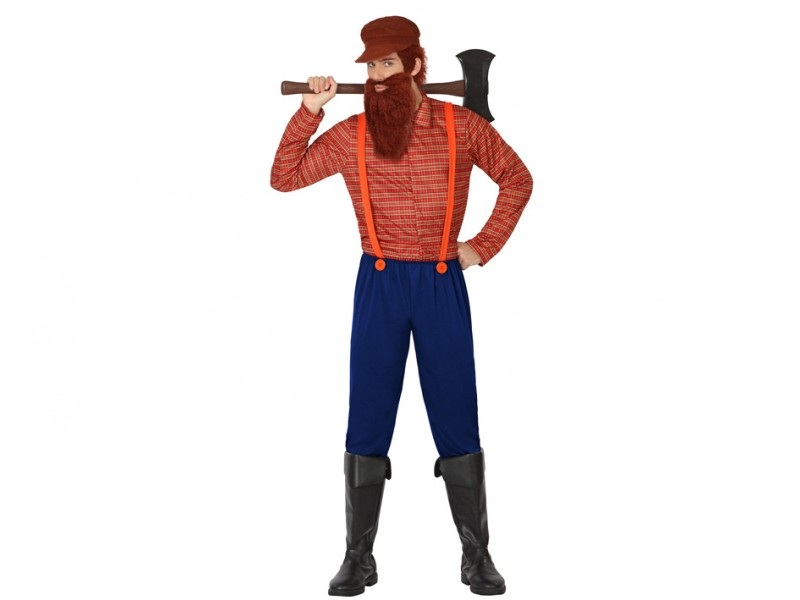 disfraz lenador hombre - DISFRAZ DE LEÑADOR HOMBRE