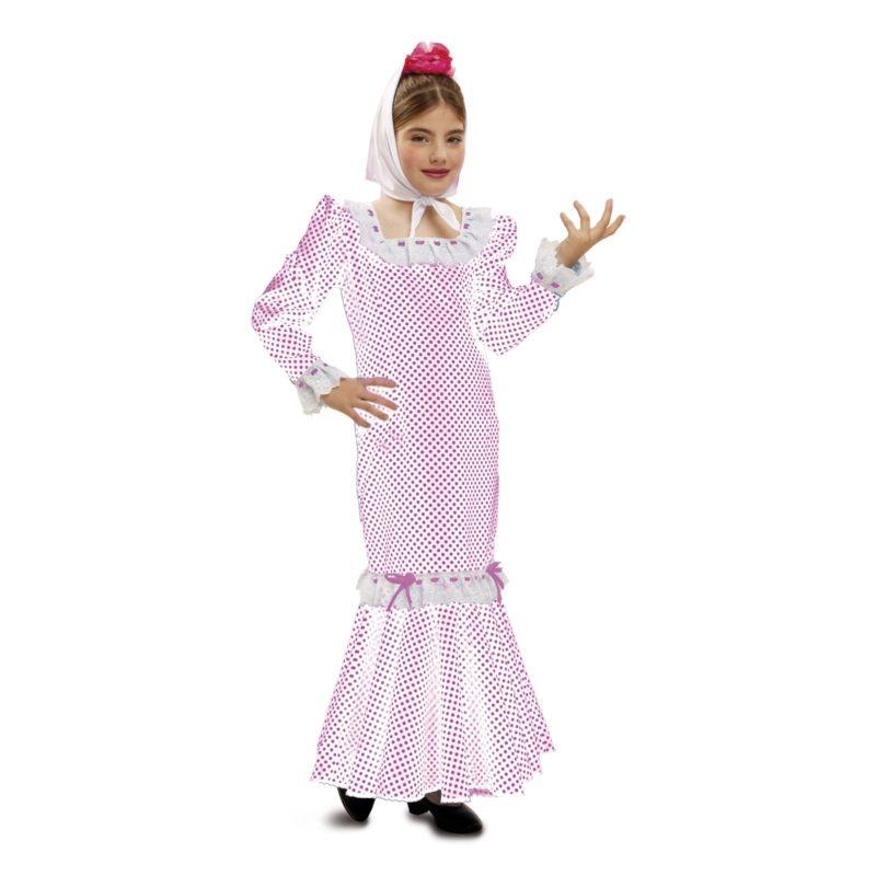 disfraz madrileña blanco infantil 800x800 - DISFRAZ DE MADRILEÑA BLANCO NIÑA