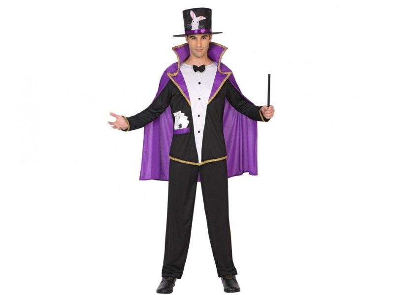 disfraz mago hombre 1 - DISFRAZ DE MAGO CHISTERA HOMBRE