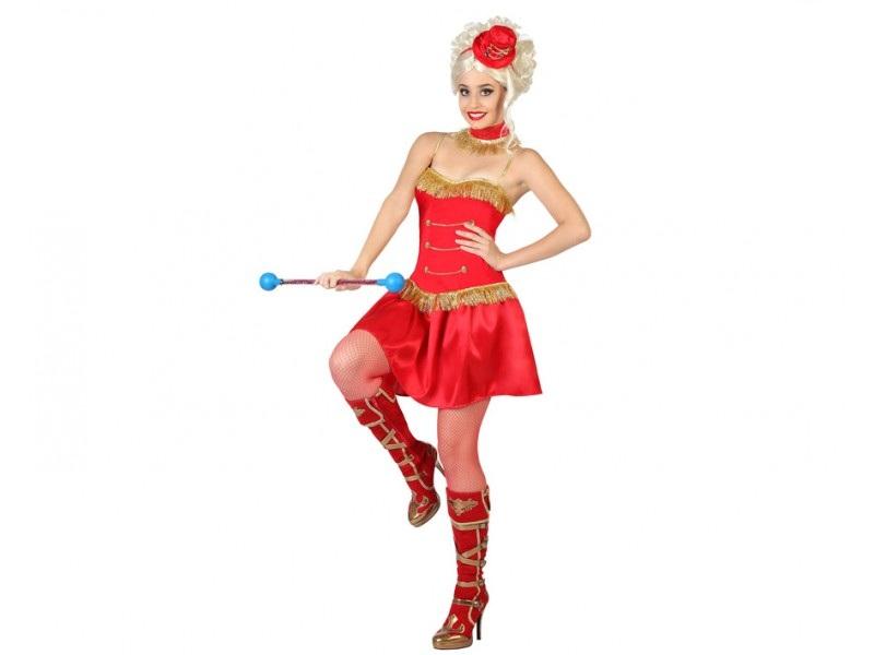 disfraz majorette rojo mujer - DISFRAZ DE MAJORETTE ROJO MUJER