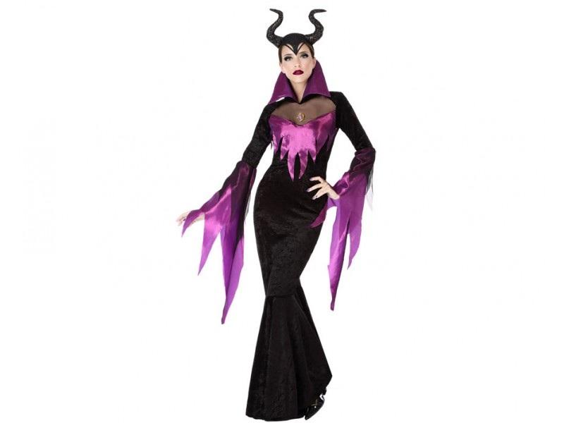 disfraz malvada negro mujer - DISFRAZ DE MALÉFICA MUJER
