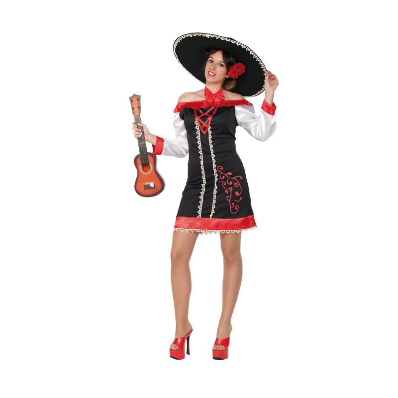 disfraz mariachi mujer - DISFRAZ DE MEJICANA MARIACHI CORTO MUJER